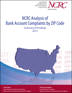 NCRC Analysis of Bank Account Complaints by ZIP Code