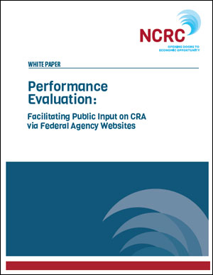 Performance Evaluation: Facilitating Public Input on CRA via Federal Agency Websites