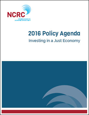 2016 NCRC Policy Agenda
