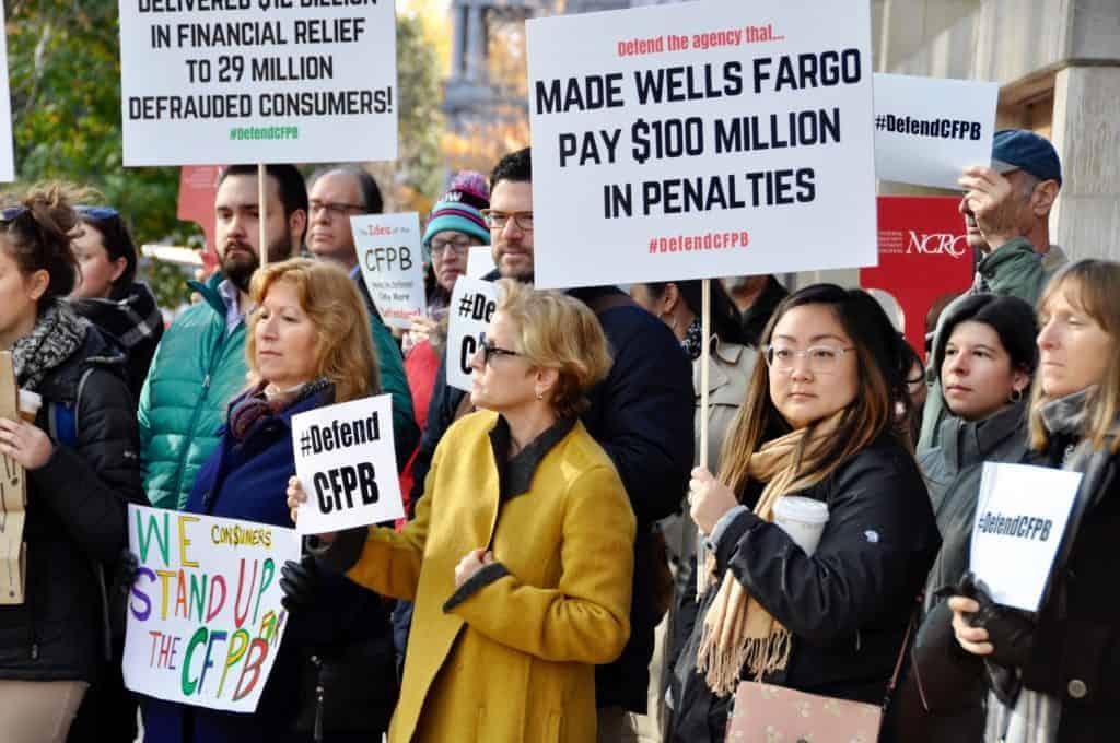 cfpb protest photo