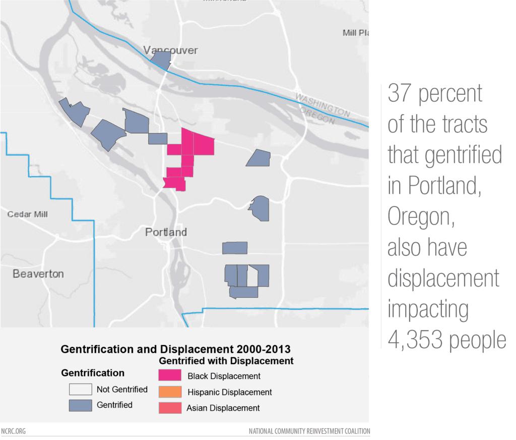 Portland gentrification map