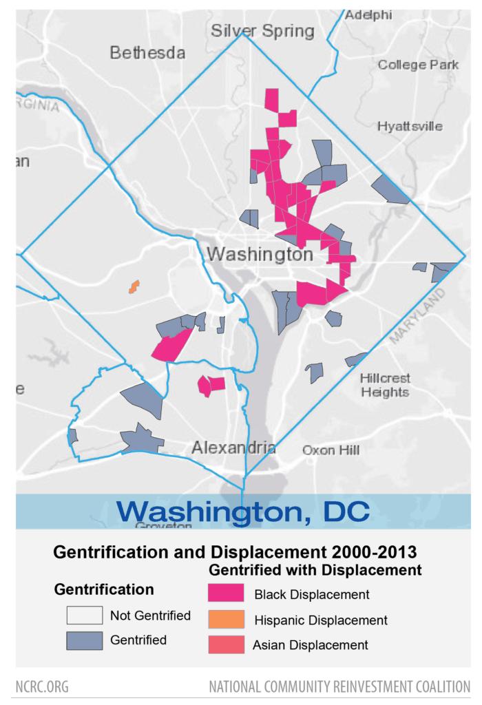 NCRC map of neighborhood gentrification