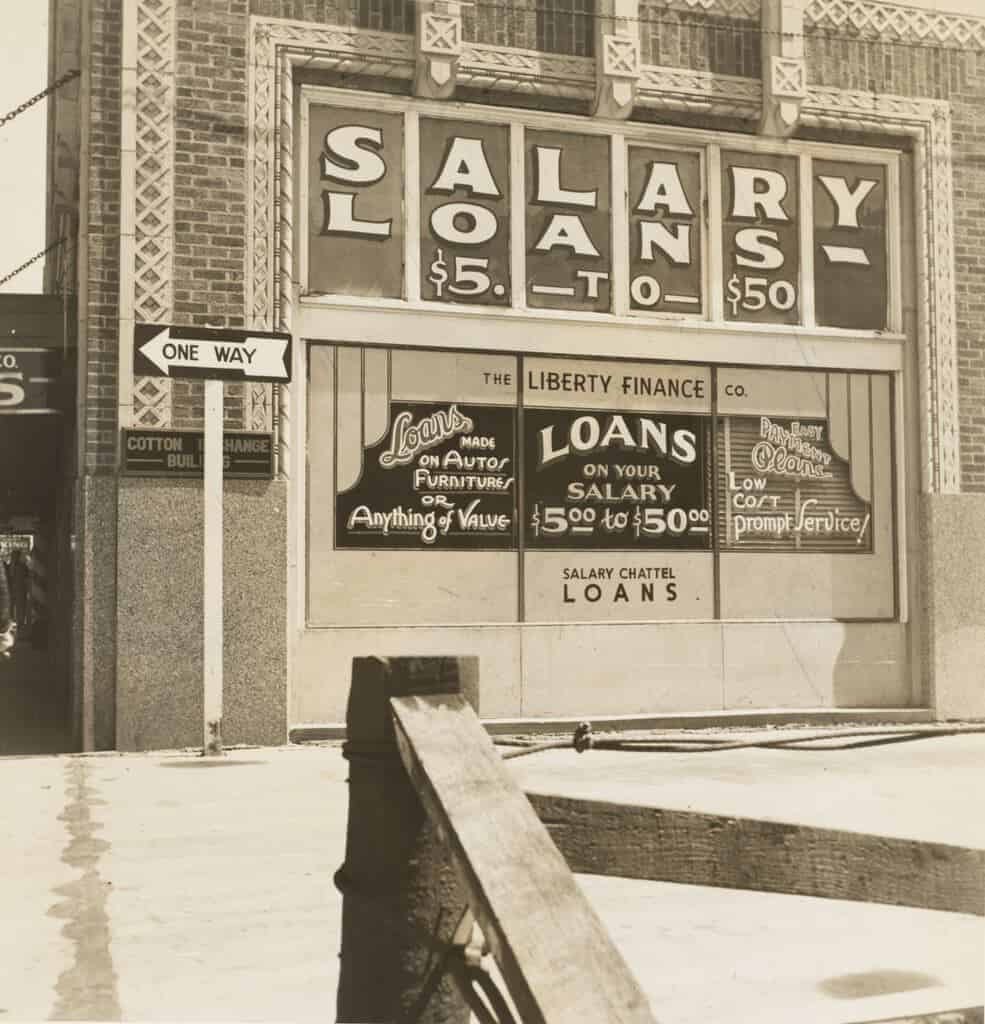 1937 photo of a storefront in Oklahoma City.