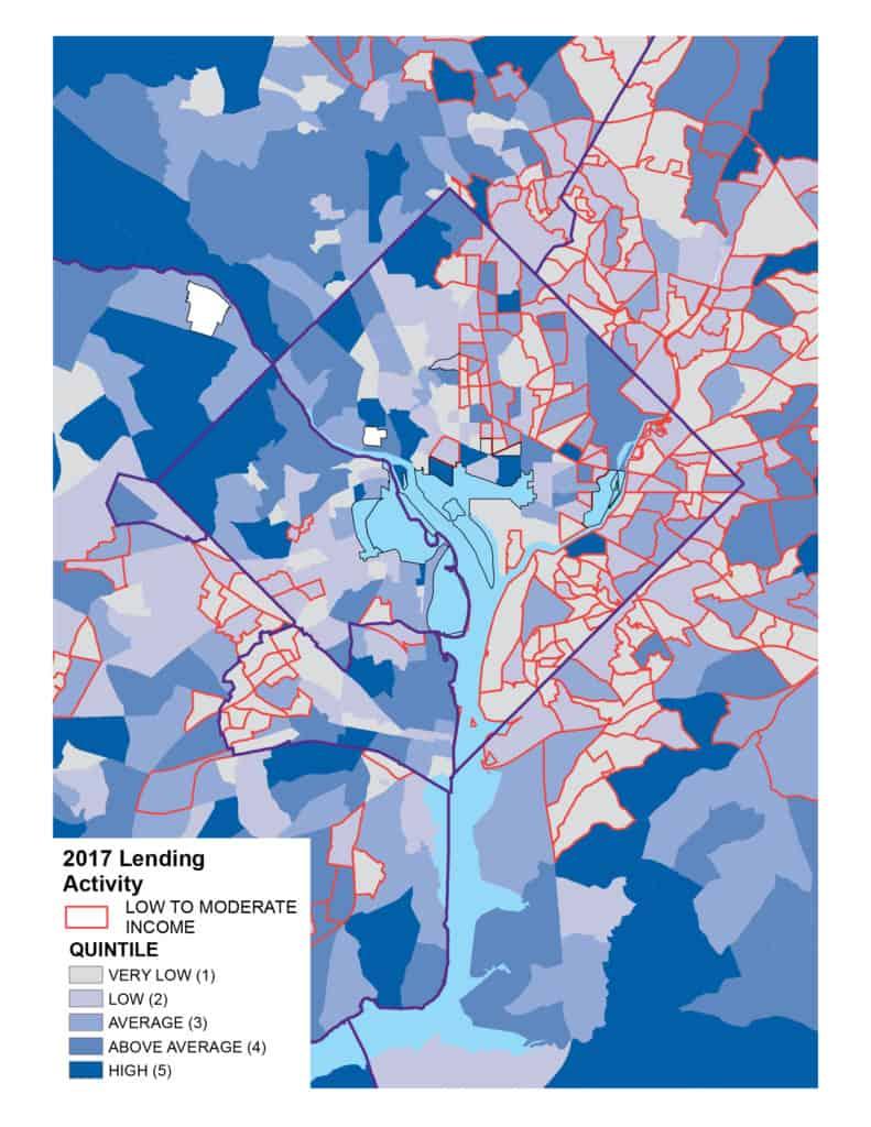 2017 Lending Activity Map D.C. LMI