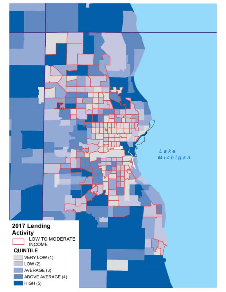 2017 Lending Activity Map Milwaukee LMI
