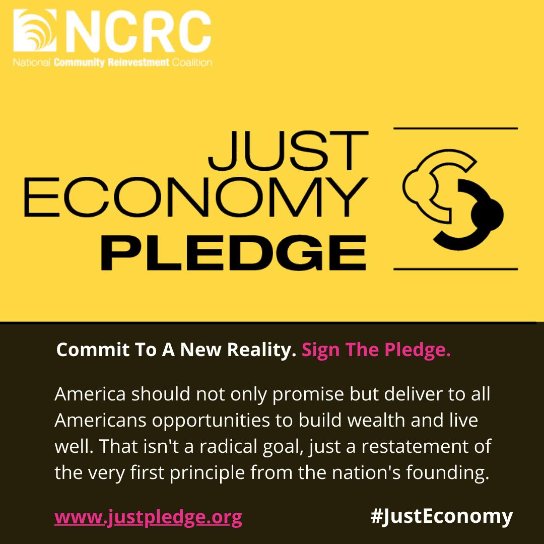 Just Economy Pledge graphic